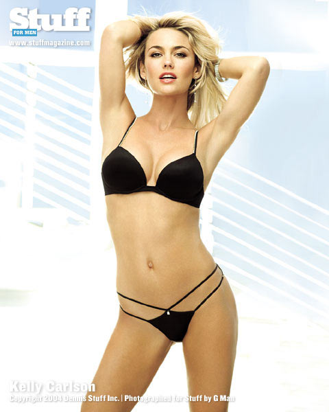 Kelly Carlson Hot in Black Lingerie