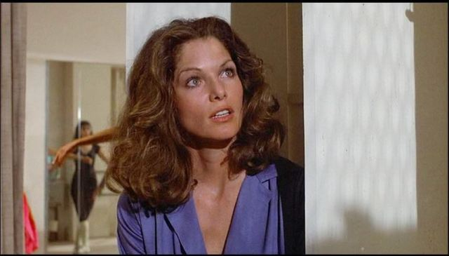 Lois Chiles sexy blue dress pic