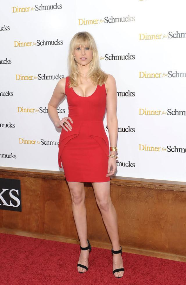 Lucy Punch sexy red dress