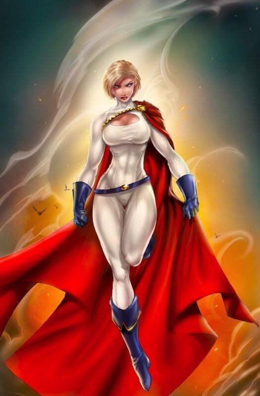 Power Girl cleavages pics