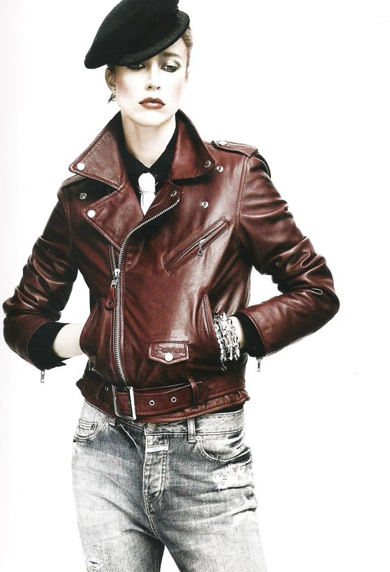 Raquel Zimmerman Hot in Leather Jacket