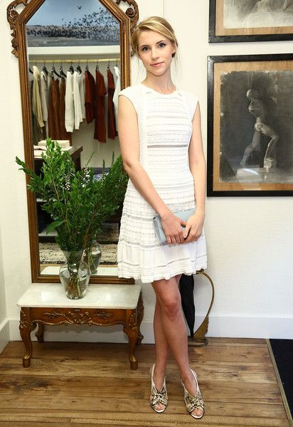 Wallis Currie-Wood Hot in White Short Dress
