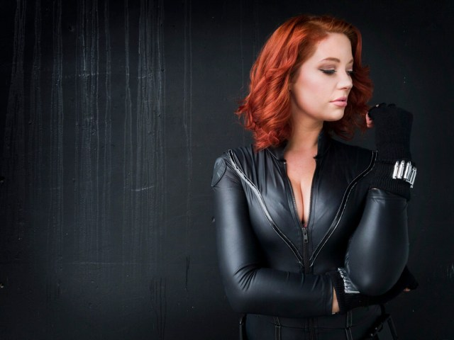 black widow cleavage picture