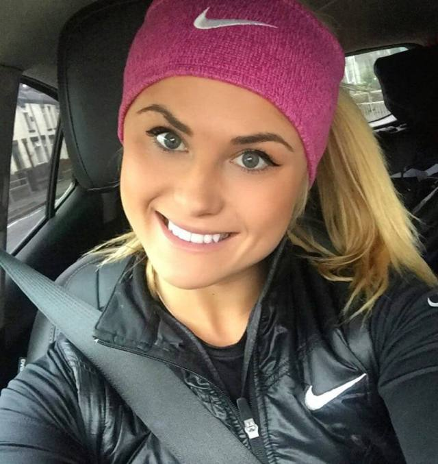 carly booth inside the car