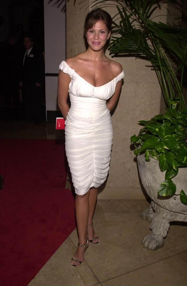 nikki cox white dress