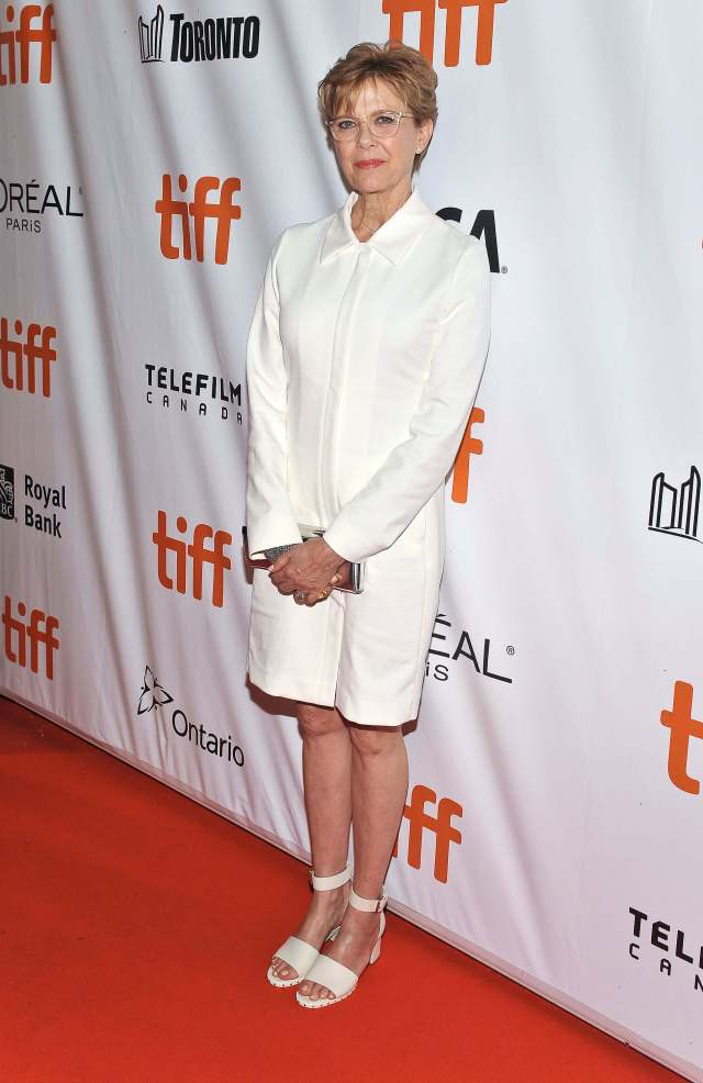 Annette Bening sexy white dress pic