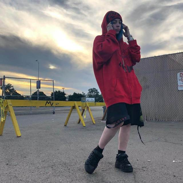 Billie Eilish sexy side picture (2)