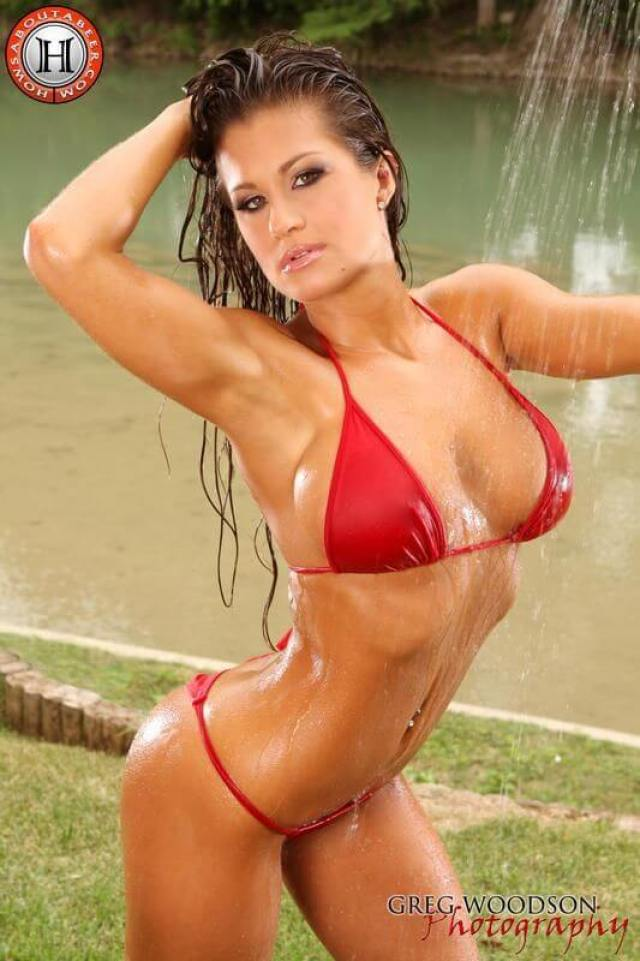 Brooke Tessmacher sexy red bikini