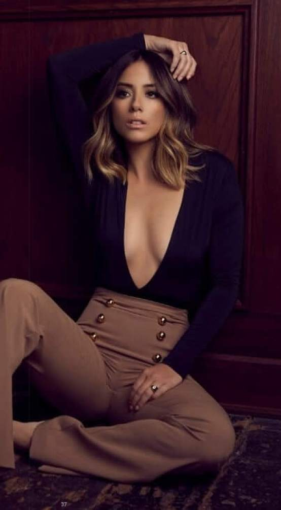Chloe Bennet sexy cleavage picture