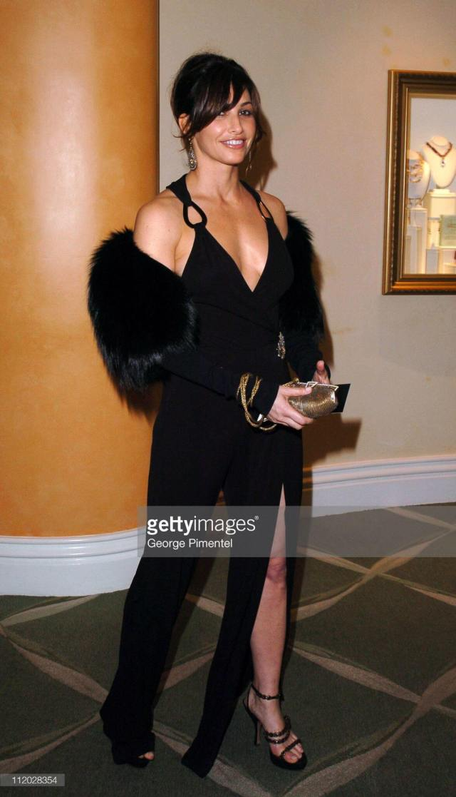 Gina Gershon sexy long black dress pic