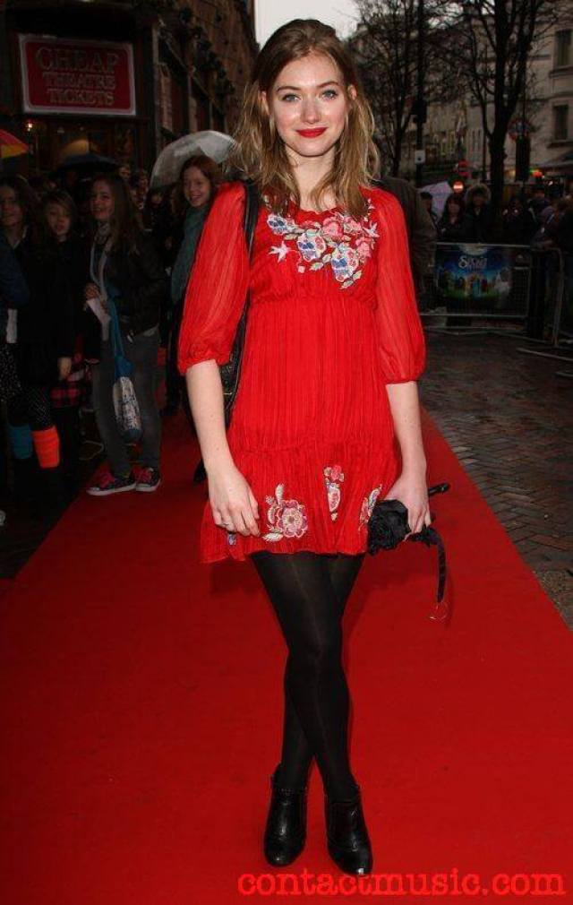 Imogen poots sexy red dress