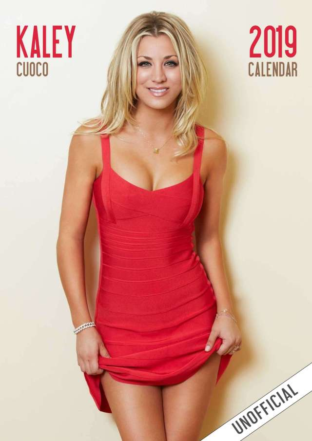 Kaley Cuoco hot red pic