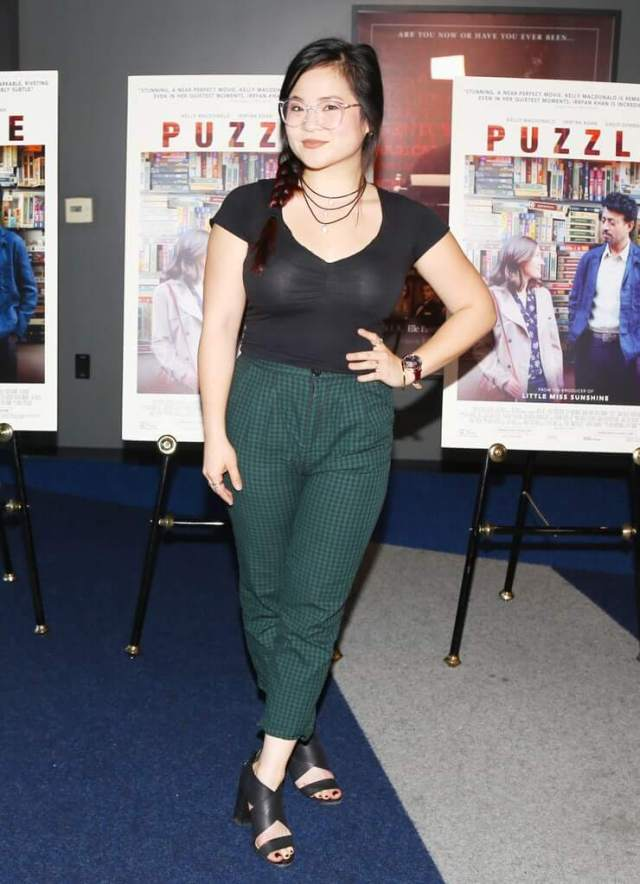Kelly Marie Tran sexy green jeans