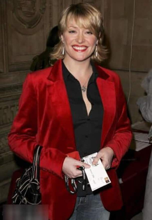 Laurie Brett sexy red jacket