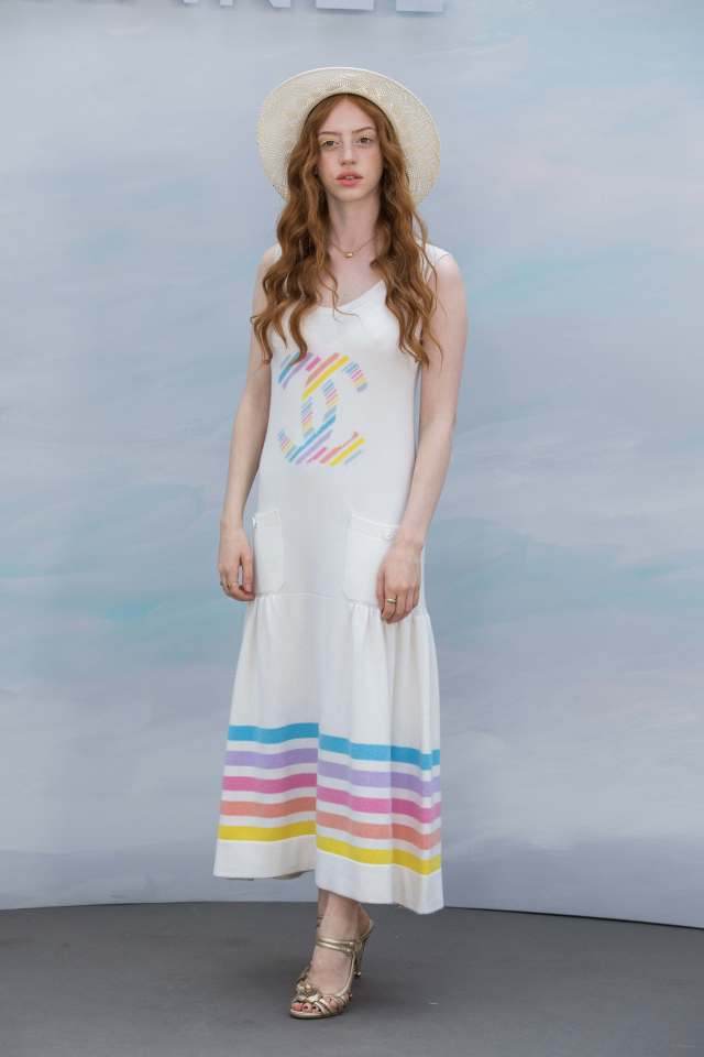 Lily Newmark sexy white dress