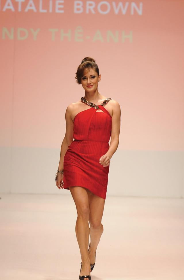 Natalie Brown sexy red dress (2)
