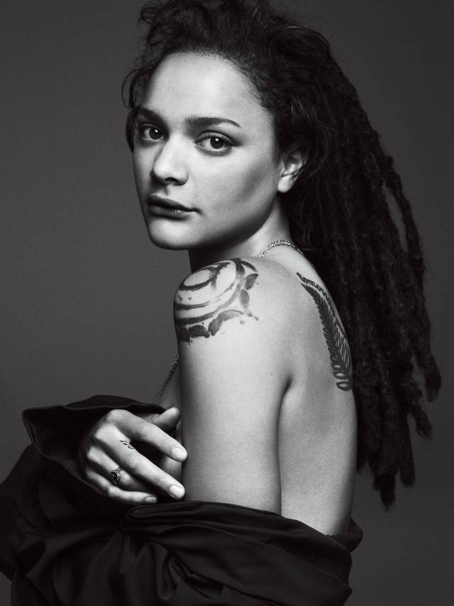 Sasha Lane sexy side look