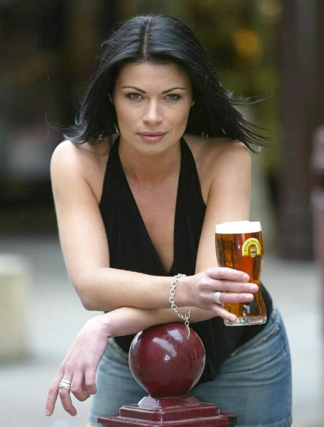 alison king with drink