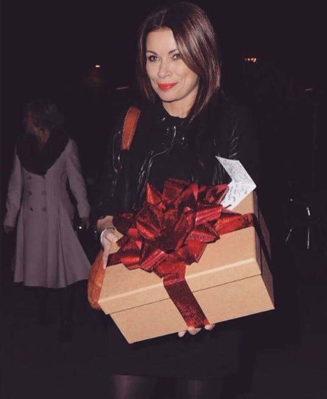 alison king with gift