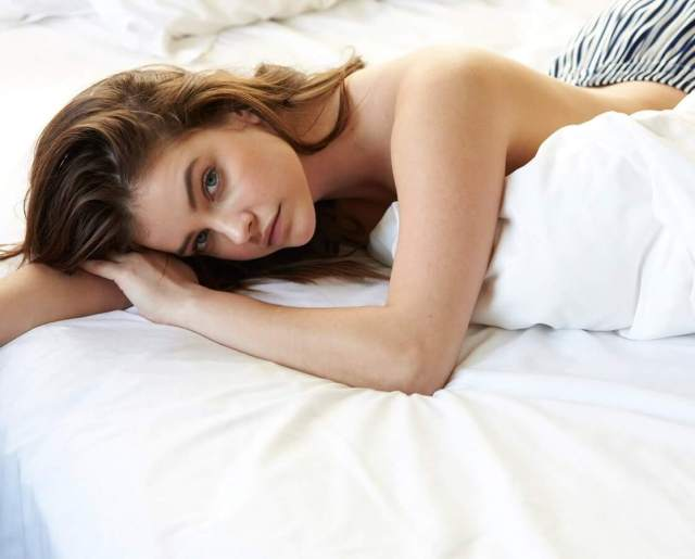 barbara palvin on the bed