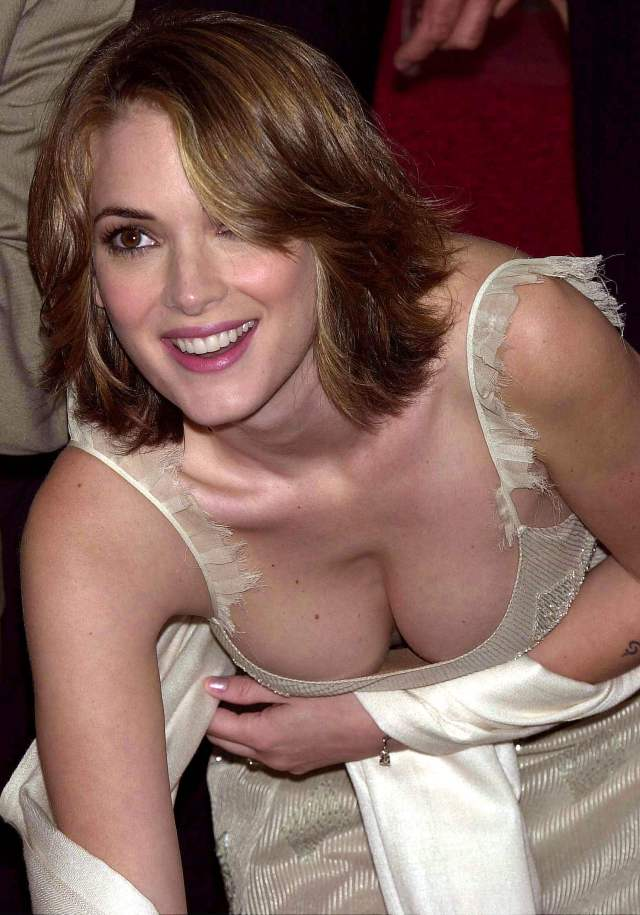 winona ryder awesome cleavage