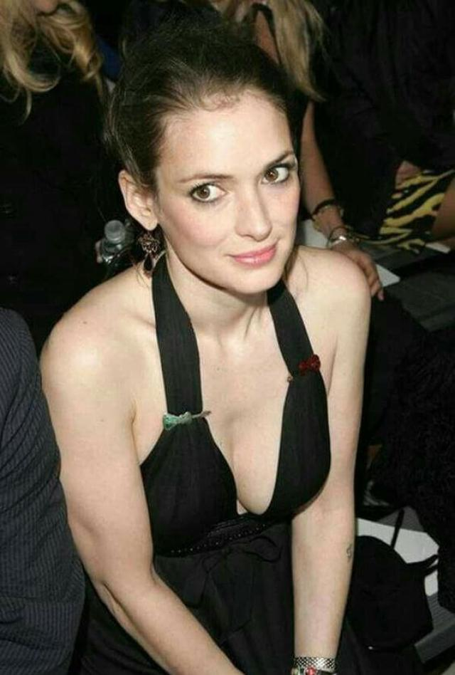 winona ryder cleavage