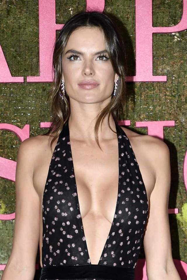 Alessandra Ambrosio hot cleavage pictures
