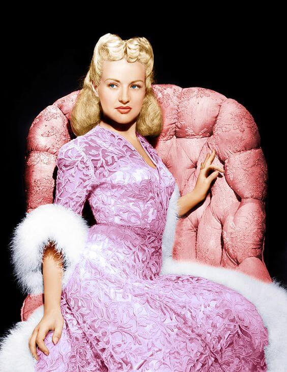 Betty Grable sexy dress