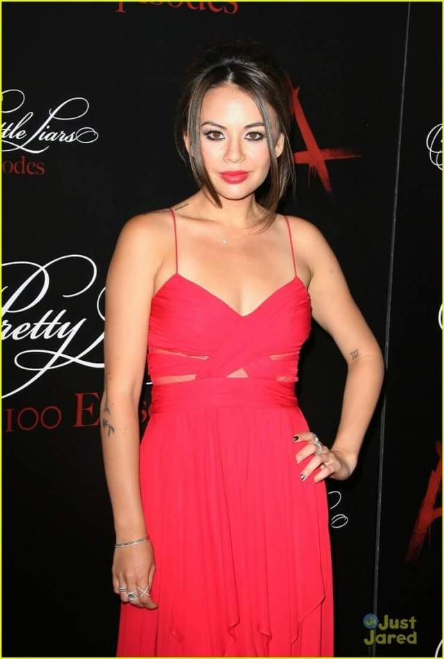Janel Parrish sexy cleavage pictures (2)