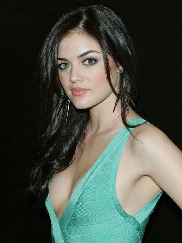 Lucy Hale cleavage pics