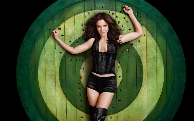 Mary-Louise Parker sexy black dress