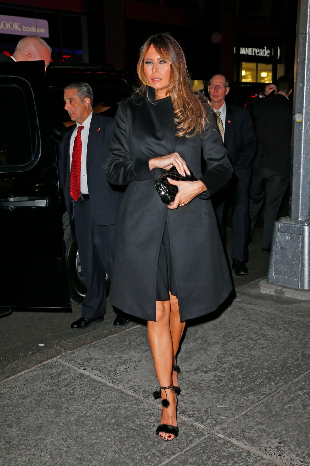 Donald Trump and Melania Trump among Celebrities seen arriving at A. Laurie Blue Adkins concert in New York City