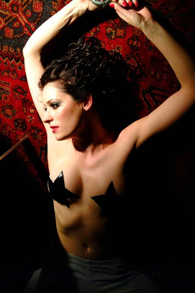Paget-Brewster near nude