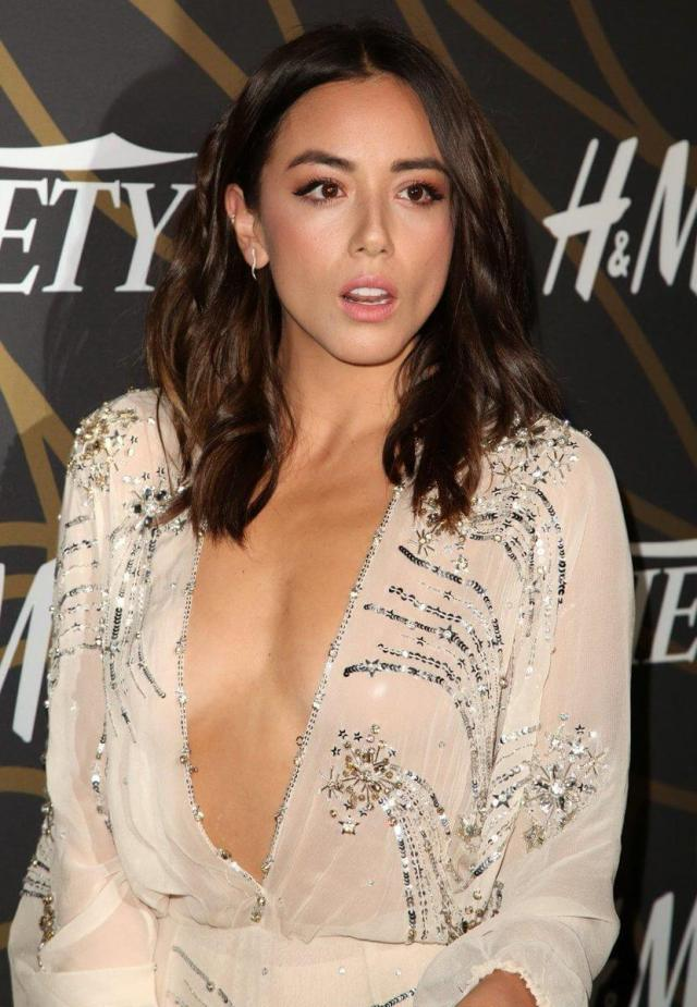 chloe bennet sexy cleavage