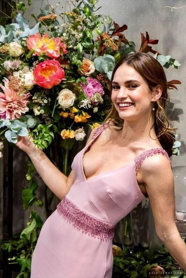 lily james See Through