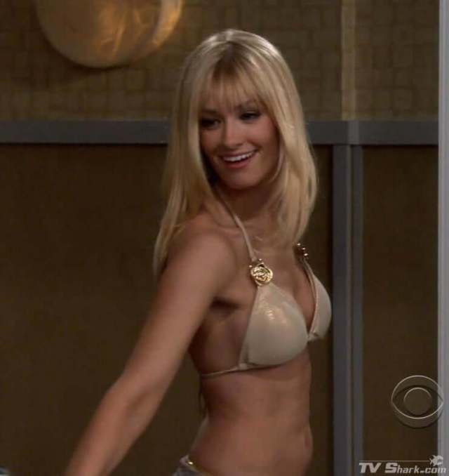 Beth Behrs side boobs
