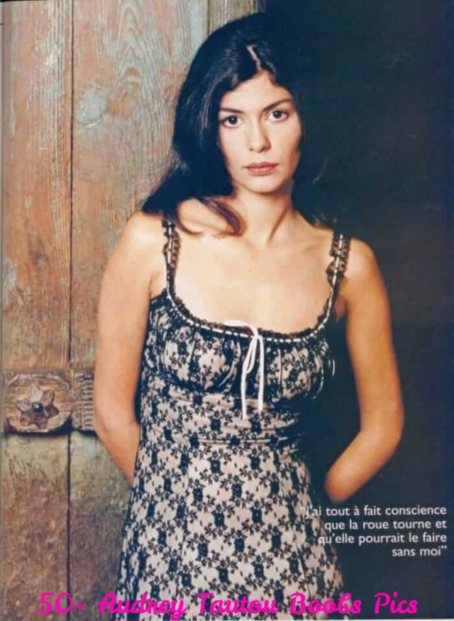 Audrey Tautou boobs cleavage