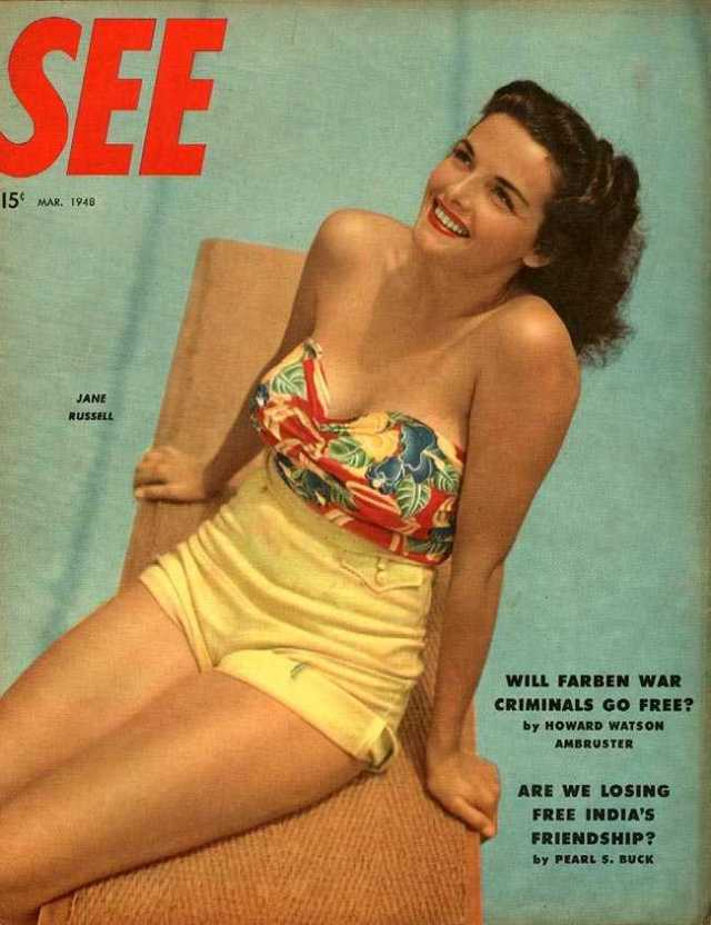 Jane Russell cleavages pics