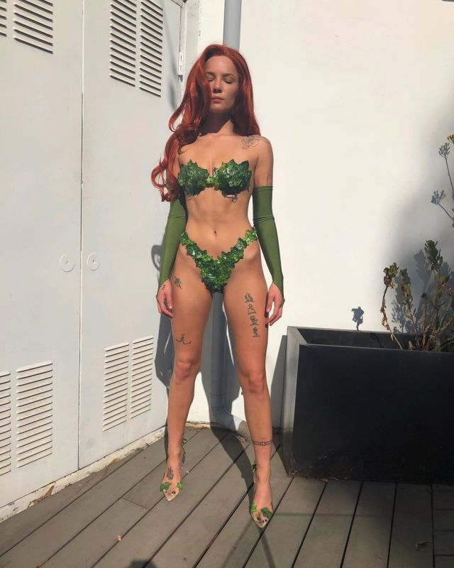Ashley Nicolette Frangipane, aka Halsey Poison Ivy costume