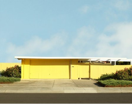 Mid Century Suburbia Yellow Eichler Home 8 x 10 Archival Photograph