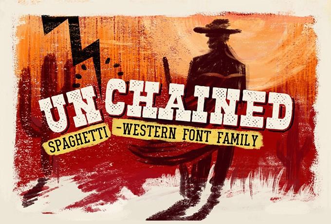 Unchained Family Font OTF. TTF をダウンロード