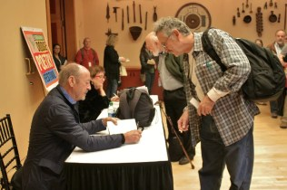 Billy Collins and Katha Pollitt at a book signing
