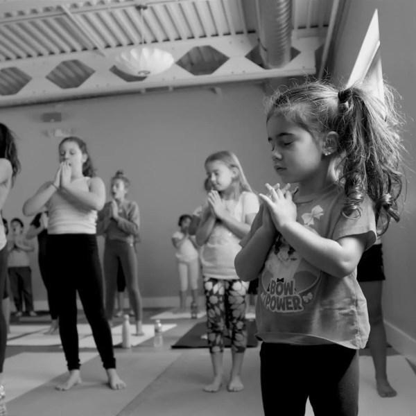 yoga, kids