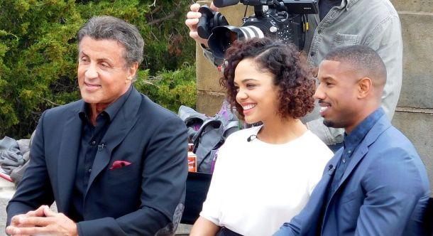 Photo of Michael B Jordan during Creed Press Tour