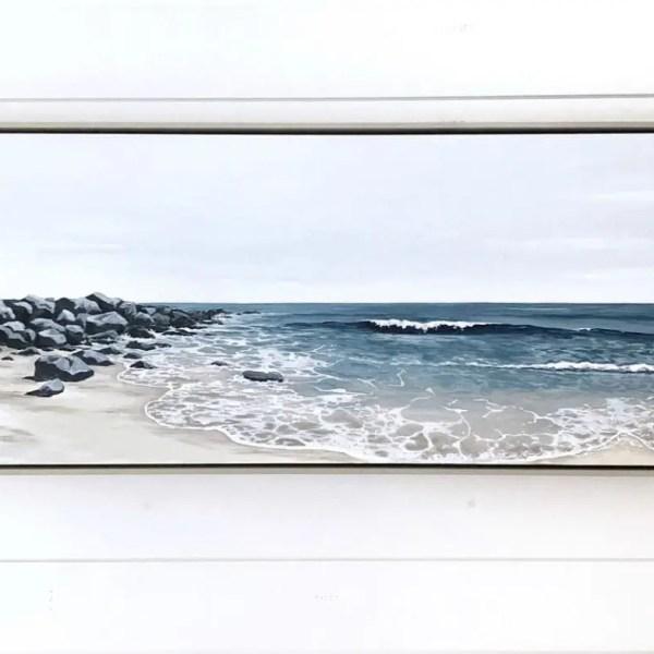 Painting by Alison Junda of Coast line