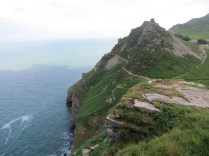 Sheer drop into the sea at the Valley of the Rocks