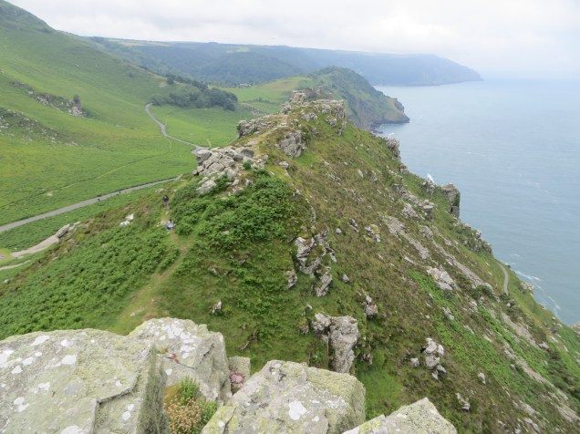 Steep drop at the Valley of the Rocks