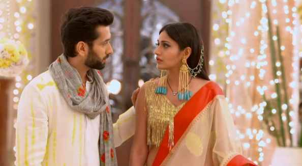 Nakuul Mehta and Surbhi Chandna in a scene