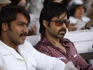 Ajay Devgn and Emraan Hashmi in a movie still