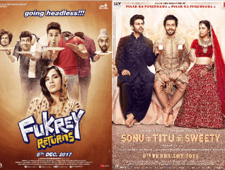SKTKS vs Fukrey Returns Box Office Comparison